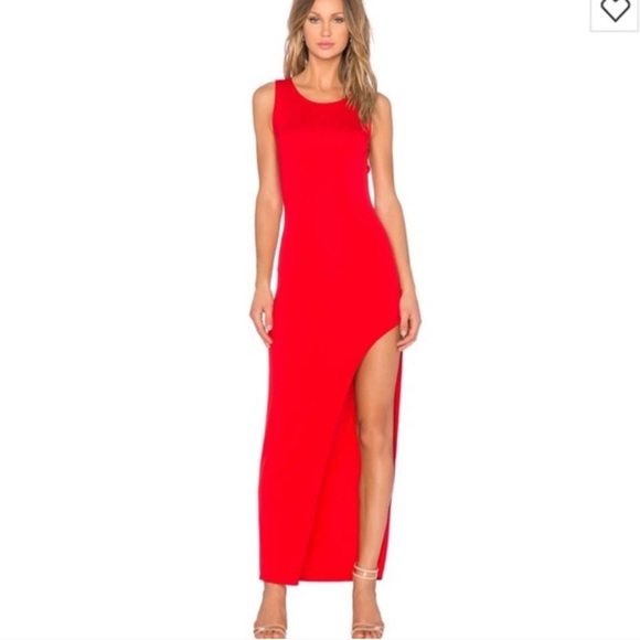Lovers Friends Dresses Lovers Friends Red High Slit Dress Gown